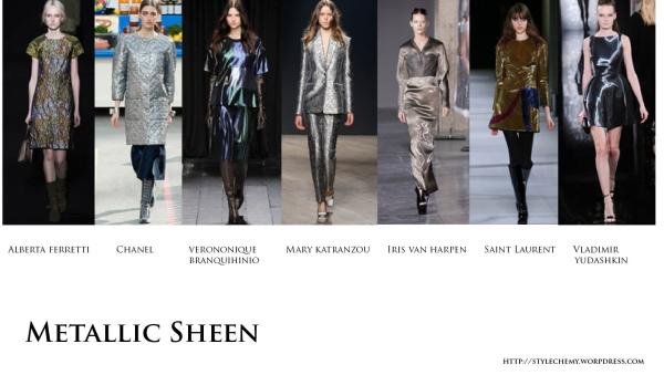 metallic sheen