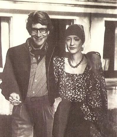 Loulou de la Falaise and Yves Saint Lurent.  Photo credit: Photobucket